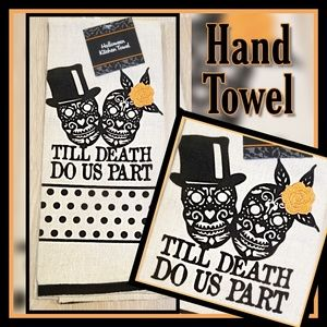 Other - New! Till Death do us Part hand towel